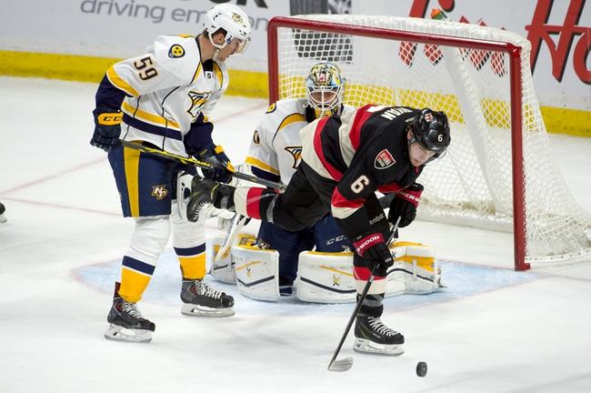 Ottawa Senators vs. Nashville Predators - 10/17/15 NHL Pick, Odds, and Prediction
