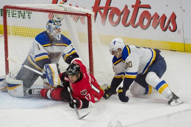 St. Louis Blues vs. Ottawa Senators - 11/25/14 NHL Pick, Odds, and Prediction