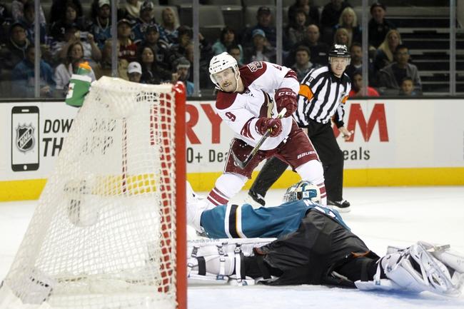 Arizona Coyotes vs. San Jose Sharks - 1/13/15 NHL Pick, Odds, and Prediction