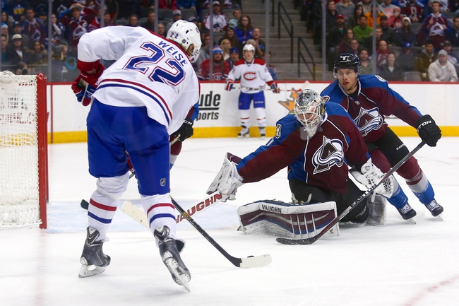 Montreal Canadiens vs. Colorado Avalanche - 11/14/15 NHL Pick, Odds, and Prediction