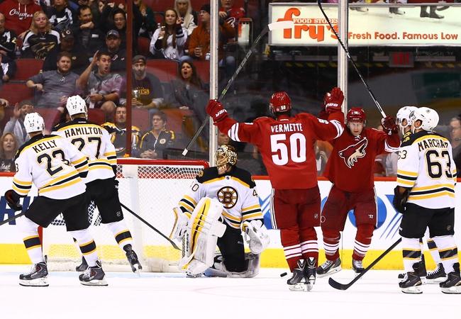 Arizona Coyotes vs. Boston Bruins - 10/17/15 NHL Pick, Odds, and Prediction