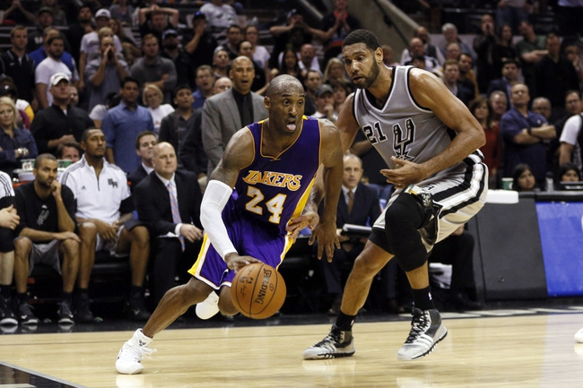 Spurs at Lakers - 1/22/16 NBA Pick, Odds, and Prediction