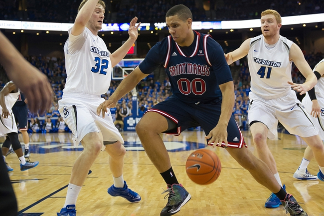 Gonzaga Bulldogs vs. St. Mary's Gaels - 1/22/15 College Basketball Pick, Odds, and Prediction