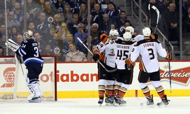 Ducks vs. Jets - 1/11/15 NHL Pick, Odds, and Prediction