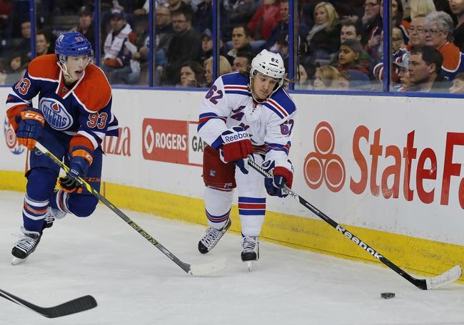 Edmonton Oilers vs. New York Rangers - 12/11/15 NHL Pick, Odds, and Prediction