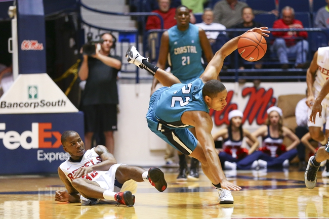 Big South Quarterfinal-Coastal Carolina Chanticleers vs. UNC Asheville Bulldogs - 3/6/15 College Basketball Pick, Odds, and Prediction