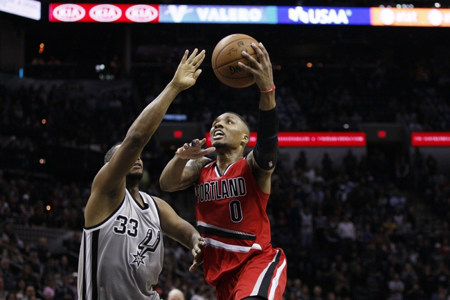 San Antonio Spurs vs. Portland Trail Blazers - 1/16/15 NBA Pick, Odds, and Prediction