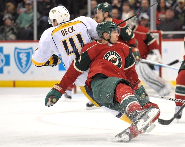 Wild vs. Predators - 1/10/15 NHL Pick, Odds, and Prediction