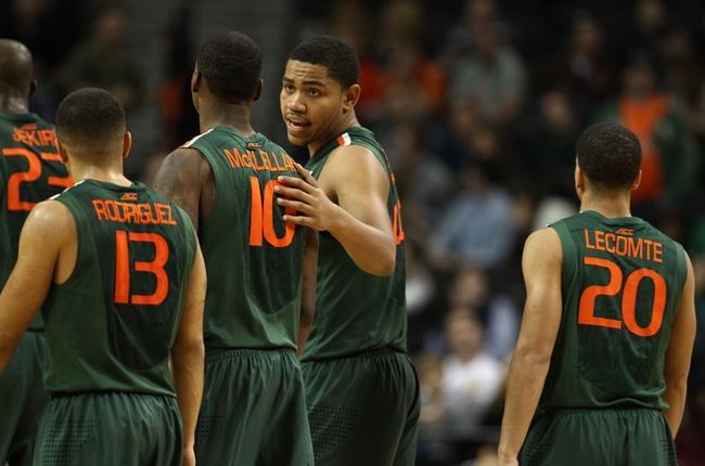 Miami vs. College of Charleston - 12/30/14 College Basketball Pick, Odds, and Prediction