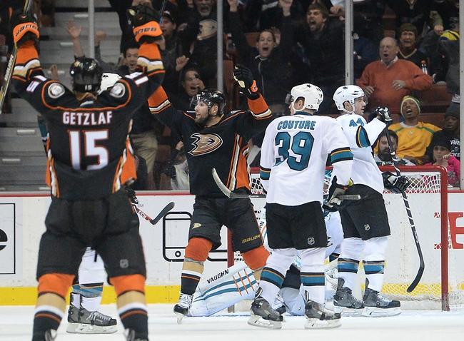 San Jose Sharks vs. Anaheim Ducks -  NHL Pick, Odds, and Prediction