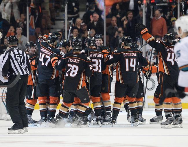 Anaheim Ducks vs. San Jose Sharks - 12/31/14 NHL Pick, Odds, and Prediction