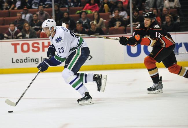 Vancouver Canucks vs. Anaheim Ducks - 1/27/15 NHL Pick, Odds, and Prediction