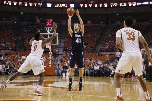 Rice vs. Texas-San Antonio - 1/2/15 College Basketball Pick, Odds, and Prediction