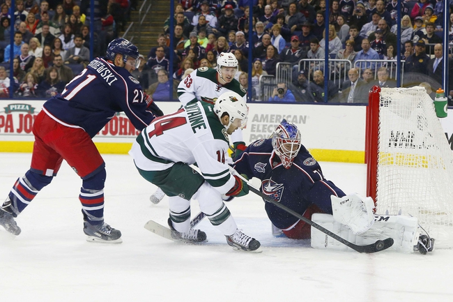 Minnesota Wild vs. Columbus Blue Jackets - 1/19/15 NHL Pick, Odds, and Prediction