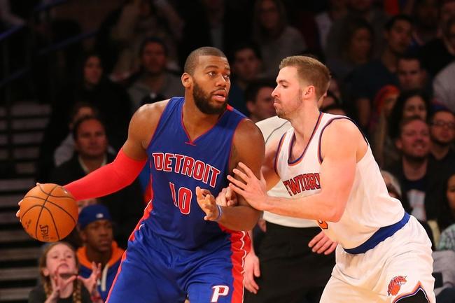 Detroit Pistons vs. New York Knicks - 2/27/15 NBA Pick, Odds, and Prediction