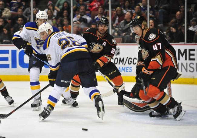 St. Louis Blues vs. Anaheim Ducks - 10/29/15 NHL Pick, Odds, and Prediction