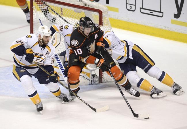 Nashville Predators vs. Anaheim Ducks - 2/5/15 NHL Pick, Odds, and Prediction
