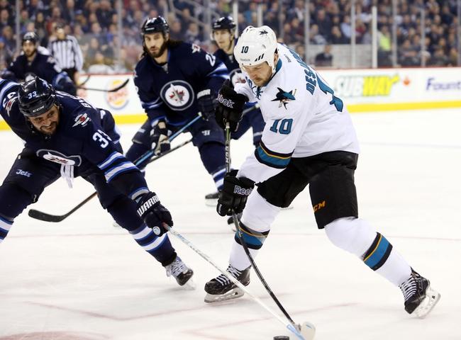 Winnipeg Jets vs. San Jose Sharks - 3/17/15 NHL Pick, Odds, and Prediction