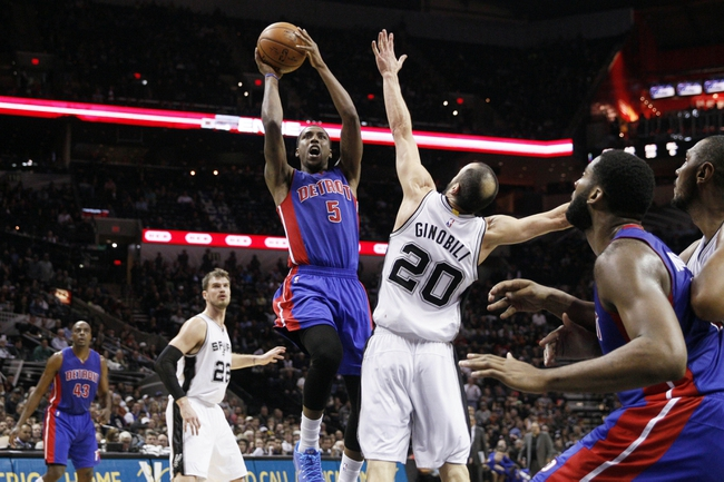 Pistons vs. Spurs - 2/11/15 NBA Pick, Odds, and Prediction