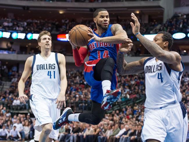 Detroit Pistons at Dallas Mavericks - 3/9/16 NBA Pick, Odds, and Prediction