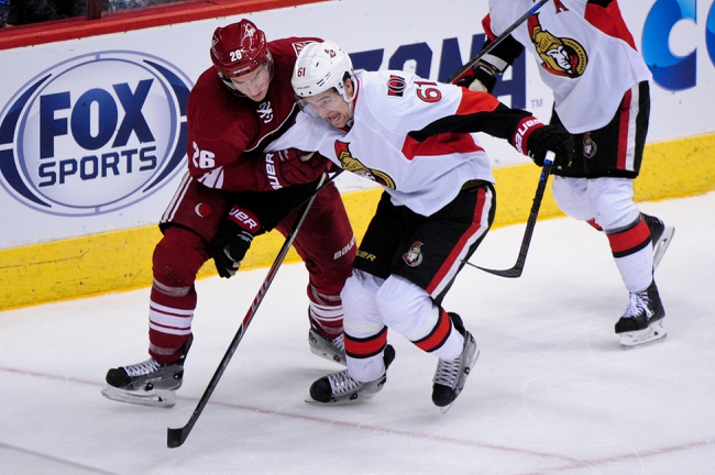 Senators vs. Coyotes - 1/31/15 NHL Pick, Odds, and Prediction