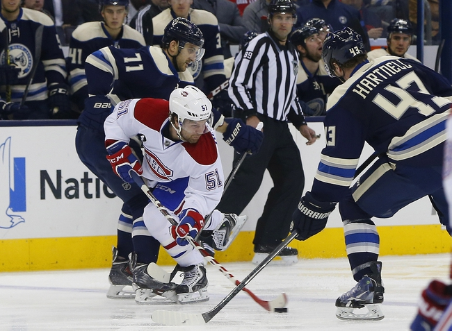 Montreal Canadiens vs. Columbus Blue Jackets - 2/21/15 NHL Pick, Odds, and Prediction