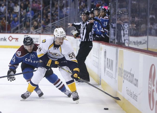Nashville Predators vs. Colorado Avalanche - 2/24/15 NHL Pick, Odds, and Prediction