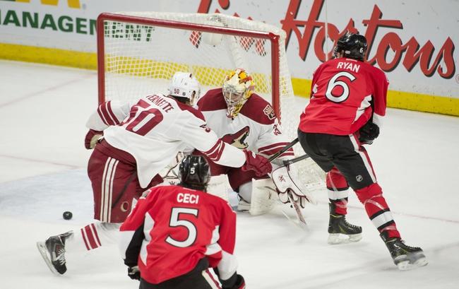 Ottawa Senators vs. Arizona Coyotes - 10/24/15 NHL Pick, Odds, and Prediction