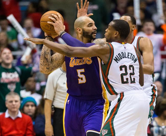 Lakers vs. Bucks - 2/27/15 NBA Pick, Odds, and Prediction