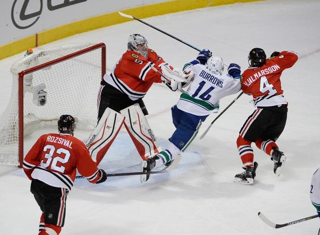 Chicago Blackhawks vs. Vancouver Canucks - 4/2/15 NHL Pick, Odds, and Prediction