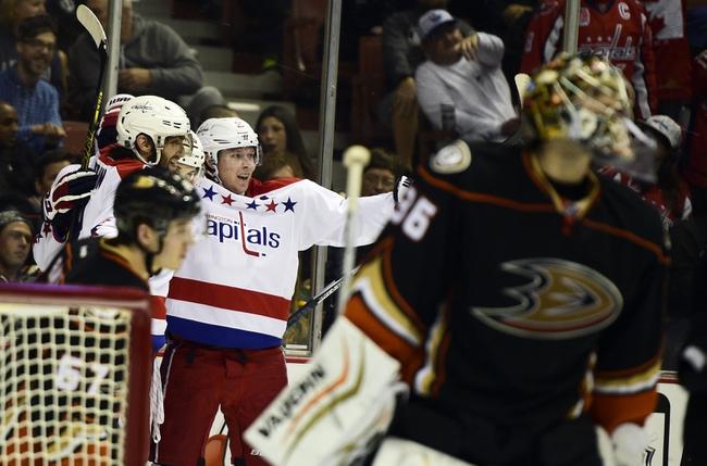 Capitals vs. Ducks - 1/22/16 NHL Pick, Odds, and Prediction