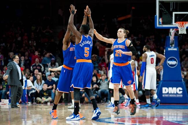 New York Knicks vs. Detroit Pistons - 12/29/15 NBA Pick, Odds, and Prediction