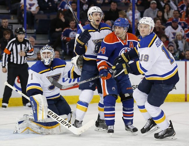 St. Louis Blues vs. Edmonton Oilers - 10/8/15 NHL Pick, Odds, and Prediction