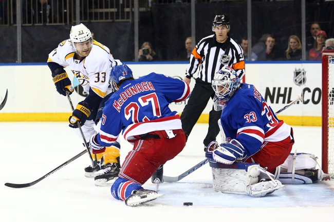 New York Rangers vs. Nashville Predators - 11/23/15 NHL Pick, Odds, and Prediction