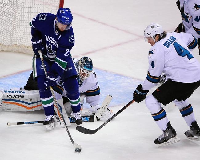 San Jose Sharks vs. Vancouver Canucks - 3/7/15 NHL Pick, Odds, and Prediction