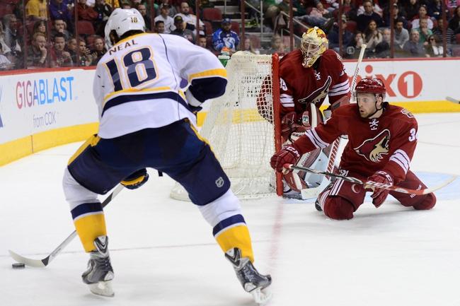 Nashville Predators vs. Arizona Coyotes - 12/1/15 NHL Pick, Odds, and Prediction