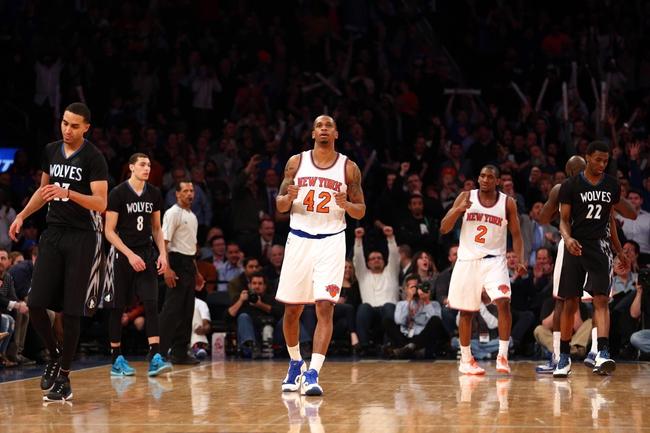 New York Knicks vs. Minnesota Timberwolves - 12/16/15 NBA Pick, Odds, and Prediction
