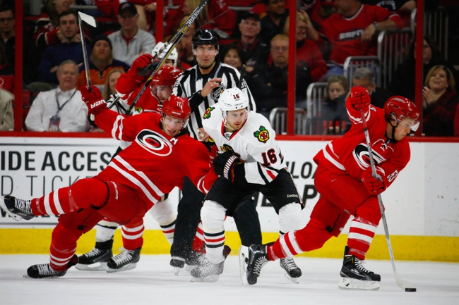 Chicago Blackhawks vs. Carolina Hurricanes - 12/27/15 NHL Pick, Odds, and Prediction
