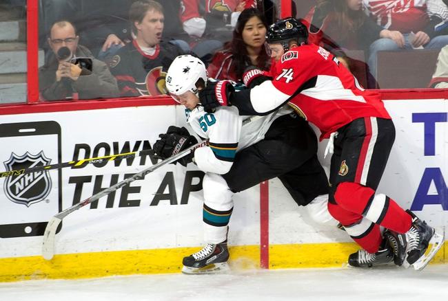 Ottawa Senators vs. San Jose Sharks - 12/18/15 NHL Pick, Odds, and Prediction