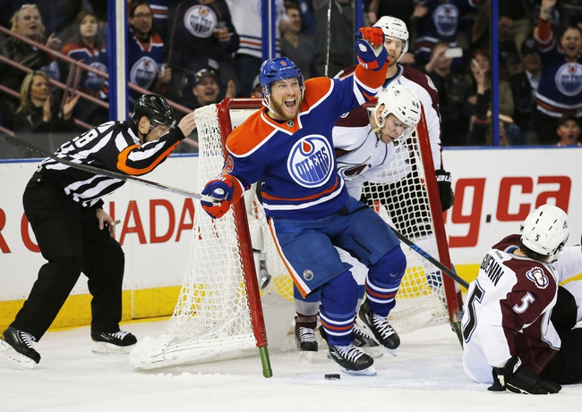 Avalanche vs. Oilers - 3/30/15 NHL Pick, Odds, and Prediction