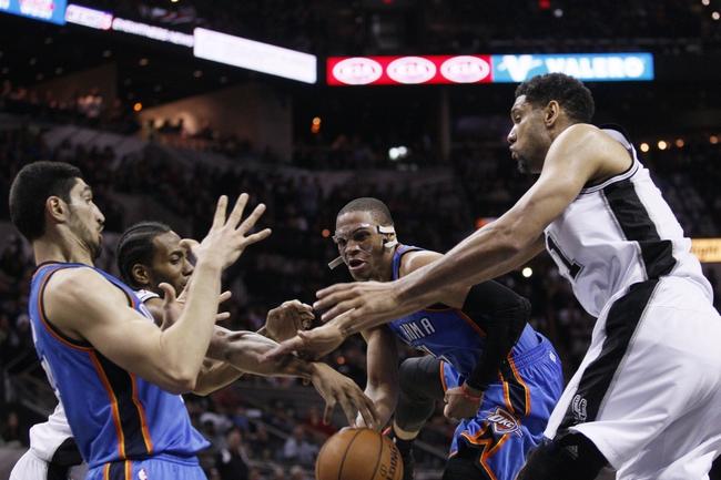 Oklahoma City Thunder vs. San Antonio Spurs - 4/7/15 NBA Pick, Odds, and Prediction