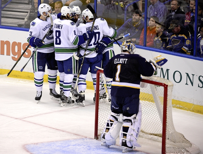 Vancouver Canucks vs. St. Louis Blues - 10/16/15 NHL Pick, Odds, and Prediction