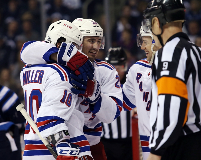Winnipeg Jets at New York Rangers- 10/13/15 NHL Pick, Odds, and Prediction