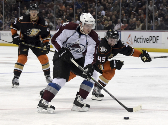Avalanche at Ducks - 10/16/15 NHL Pick, Odds, and Prediction