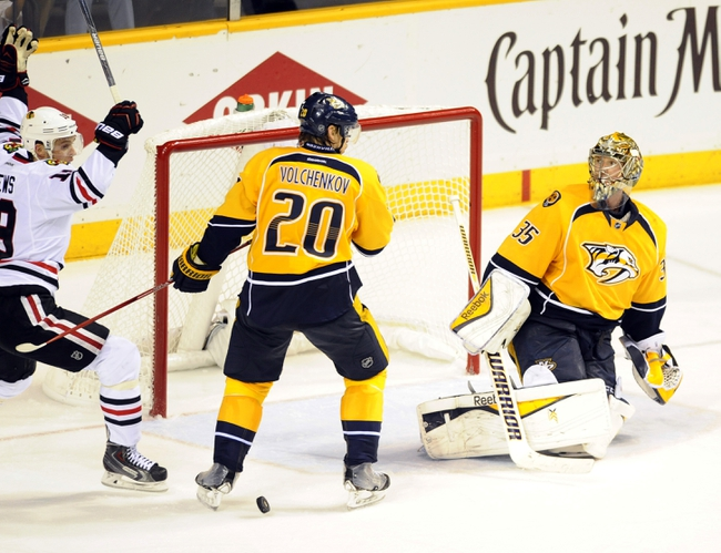 Nashville Predators vs. Chicago Blackhawks - 4/17/15 NHL Pick, Odds, and Prediction