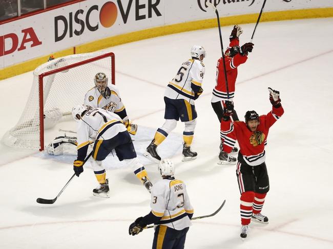 Chicago Blackhawks vs. Nashville Predators - 12/8/15 NHL Pick, Odds, and Prediction