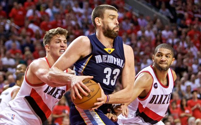 Memphis Grizzlies vs. Portland Trail Blazers - 4/29/15 NBA Pick, Odds, and Prediction