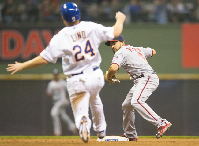 Brewers vs. Nationals - 6/13/15 MLB Pick, Odds, and Prediction