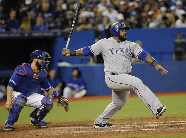 Rangers vs. Blue Jays - 8/25/15 MLB Pick, Odds, and Prediction