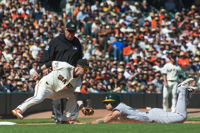 Oakland Athletics vs. San Francisco Giants - 9/25/15 MLB Pick, Odds, and Prediction